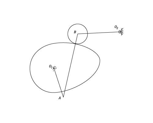 tangent cam with reciprocating roller follower